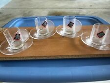 (4) RIEDEL Espresso Cups & Saucers - New