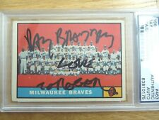 RAY BRADBURY SIGNED BASEBALL CARD PSA/DNA CERTIFIED MILWAUKEE BRAVES NOVEL RARE!