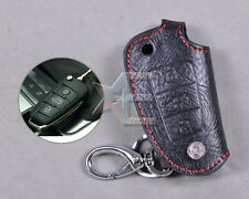 Genuine Leather Remote Key Chain Holder Case Cover Fob for AUDI A6L Q7 A3 3BT