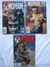 """WOLVERINE #s 173,174,175 : """"The LOGAN FILES"""" :COMPLETE 3 ISSUE STORY.MARVEL.2000"""