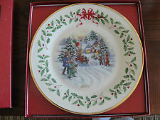 Lenox Annual Holiday Collector'S Plates 11Th 2001 Children And Santa In Truck