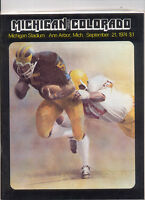Michigan Vs Colorado Program 1974  MBX67