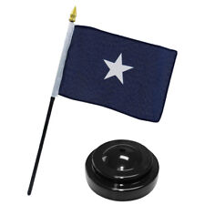"Bonnie Blue Historical 4""x6"" Flag Desk Set Table Stick Staff Black Base"