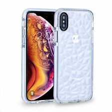 For iPhone XS Max XR XS Case Crystal Clear Diamond Shockproof Hybird Protective