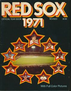1971 BOSTON RED SOX Yearbook w/CARL YASTRZEMSKI, Bill LEE, MORE