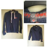 Superdry Orange Label Mens Dark Blue Cotton/Polyester Hoodie XS(B64)
