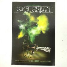 Primal Scream Brian Jonestown Massacre SF Fillmore Gig Poster 2009 Claude Shade