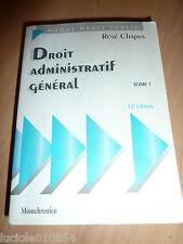 Droit administratif general - Tome 1 - 12e ed. Rene Chapus LGDJ Montchrestien