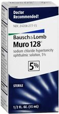 Bausch & Lomb Muro 128 Solution 5% 15 mL (Pack of 12)