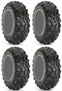 Four 4 Carlisle AT489 ATV Tires Set 2 Front 23x7-10 & 2 Rear 22x11-10 489 A/T