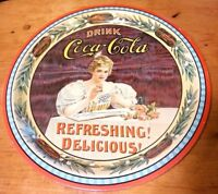 Vintage Coca Cola Serving Tray 75th Anniversary Metal Litho Tin Advertising
