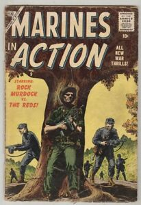 Marines in Action #9 November 1956 G- Commie Captain Chung