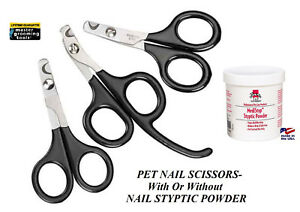 Master Grooming Tools PET NAIL SCISSORS Trimmer Clipper Angled & STYPTIC POWDER