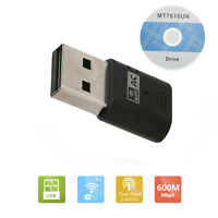 WiFi Adapter Dongle USB Wireless Adapter Dongle 600Mbps Dual band 2.4/5Ghz HOT