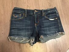 Hollister Womens Stretch Jean Cut Off Shortie Shorts Size 1