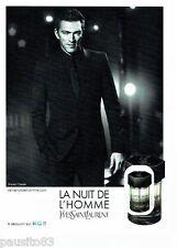 PUBLICITE ADVERTISING 116  2011  Parfum Nuit HOMME Yves ST LAURENT & V Cassel *