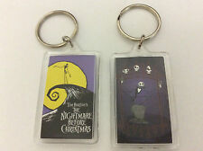 NIGHTMARE BEFORE CHRISTMAS KEYCHAIN Double Sided NEW OFFICIAL MERCHANDISE Rare