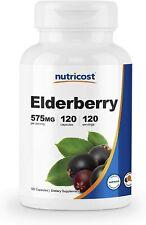 Elderberry 575mg 10:1 Extract 120 Caps Source of Vitamin C & Zinc Immune Health