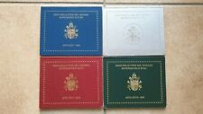 Le 4 divisionali Vaticano FDC in Euro di Papa Giovanni Paolo II dal 2002 al 2005