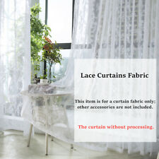 Lace Floral Curtains Fabric Cloth Window Door Tulle Sheer Mesh Country Decorate