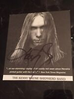 "RARE KENNY WAYNE SHEPHERD SIGNED 3.5 X 4"" PROMO"