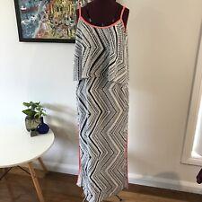 PORTMANS Ladies Dress Size 10. Side Splits. Black & White Maxi