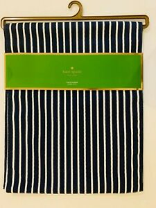 """Kate Spade Harbour Drive,Navy blue striped Table Runner 15 x 72"""", cotton blend"""