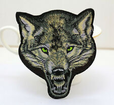 Wolf Head Fabric Embroidered Cloth Iron On T-SHIRT JACKET HAT Patch Appliques