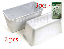Set lot of 2 pcs  Bread Pan Loaf Aluminium Mold New + 3pcs. Solod /  Rye malt