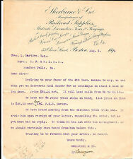 Original 1896 Sherburne & Co. Railroad Supplies Letterhead To R.F.&R.L. RR