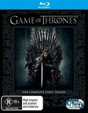 GAME OF THRONES (COMPLETE SEASON 1 - BLU RAY SET SEALED + FREE POST)