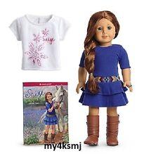 American Girl SAIGE DOLL + BOOK 2013 + BONUS Saige doll size TEE sage  FAST SHIP