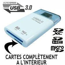 LECTEUR CARTE MEMOIRE USB 3.0 SDXC SDHC SD MICROSD ADAPTATEUR CLÉ