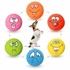 Latex Dog Squeaky Toy Soft Rubber Chewing Toys Fetch Balls Puppy Fun Play 6 Pack