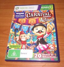 Carnival Games in Action! - Microsoft Xbox 360 - KINECT, 2011 - COMPLETE - ede