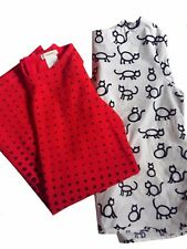 J Crew Crewcuts Girls' Dotted Red Dress and White Cat Blouse Size 7