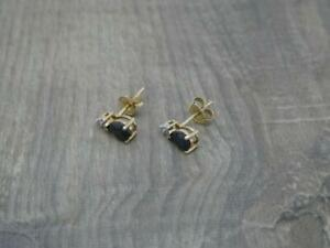 Beautiful Elegant 9ct Gold Natural Pear Sapphire Stud Earrings