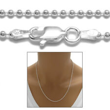 925 Sterling Silver Bead Chain Necklace 1.75mm (180 Gauge)