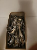 Lot Stainless 45 Misc Flatware Mixed Silverware Random Pieces