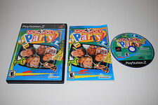Monopoly Party Sony Playstation 2 PS2 Video Game Complete