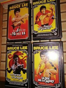 Lot  4 VHS  BRUCE Lee rene Chateau