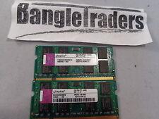 KINGSTON 4 GB (2x2) DDR2 800 MHZ 2RX8 PC2 6400s Laptop Memory RAM