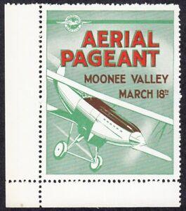 AUSTRALIA - 1930s  Aerial Pageant CINDERELLA FLIGHT LABEL