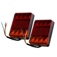 1 Pair LED Waterproof Truck Trailer CARAVAN Stop Brake Tail Light Indicator Lamp