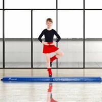8ft Folding Floor Balance Beam Foam Gymnastic Training Kids Home Gym Blue