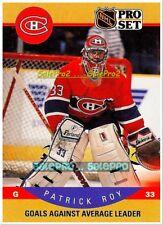 PRO SET 1990 PATRICK ROY NHL MONTREAL CANADIENS GOALIE SUPERSTAR RARE GOLD #399