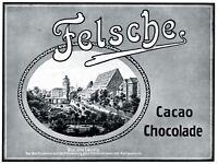 Schokolade Felsche Reklame 1912 Leipzig Moritzdamm Pleissenburg Werbung Kakao