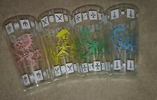 New ListingVintage Drinking Glasses Painted Art Indian Pirate