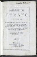 Parrocchiano Romano contenente le preghiere del mattino e della sera - 1872 ca.