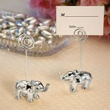 20 Silver Finish Elephant Place Card Holders Wedding Favors Placecard Favors